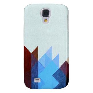 Coque Galaxy S4 Art géométrique bleu rouge