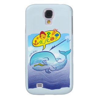 Coque Galaxy S4 Baleine sauvage indiquant de mauvais mots tout en