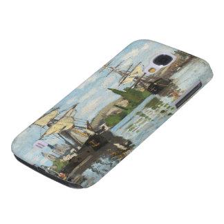 Coque Galaxy S4 Bateaux de Claude Monet | montant sur la Seine à