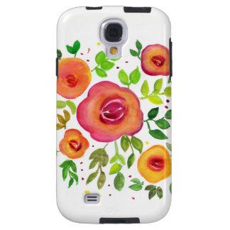 Coque Galaxy S4 Bouquet floral de fleurs lumineuses, peinture