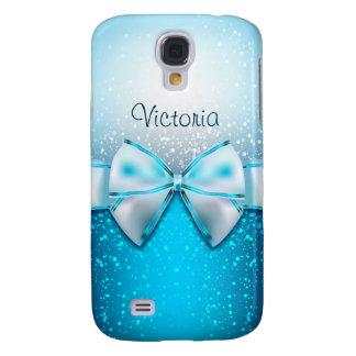 Coque Galaxy S4 Caisse bleue Girly de la galaxie 4 de vacances de