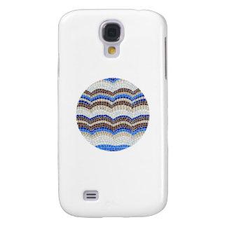 Coque Galaxy S4 Caisse bleue ronde de la galaxie S4 de Samsung de
