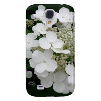 Coque Galaxy S4 Caisse florale blanche de la galaxie 4 de J