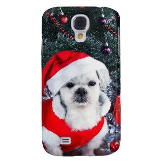 Coque Galaxy S4 Caniche père Noël - chien de Noël - chien du père