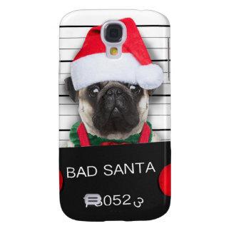 Coque Galaxy S4 Carlin de Noël - chien de photo - carlin de père