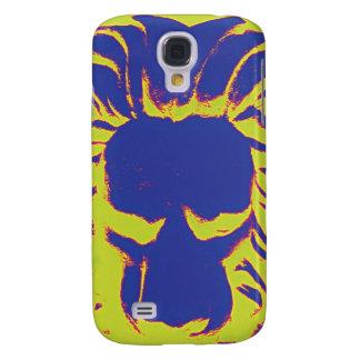 Coque Galaxy S4 Cas de téléphone de jaune d'amd de marine de lion