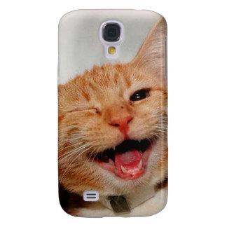 Coque Galaxy S4 Chat clignant de l'oeil - chat orange - les chats
