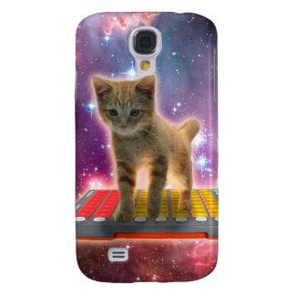 Coque Galaxy S4 chat de clavier - chat tigré - minou