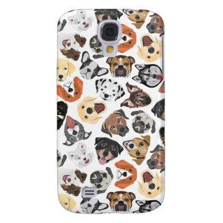 Coque Galaxy S4 Chiens domestiques doux de motif d'illustration