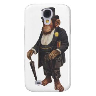 Coque Galaxy S4 Chimpanzé drôle - rétro singe - monkey le