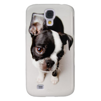 Coque Galaxy S4 Chiot d'Edison Boston Terrier