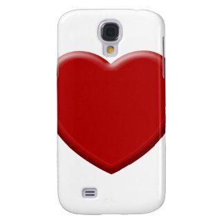 Coque Galaxy S4 Cœur d'amour rouge valentin