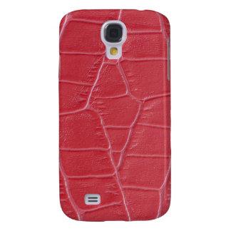 Coque Galaxy S4 Cuir rouge
