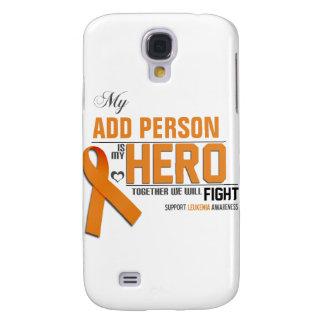 Coque Galaxy S4 Customisez MON HÉROS :  Leucémie