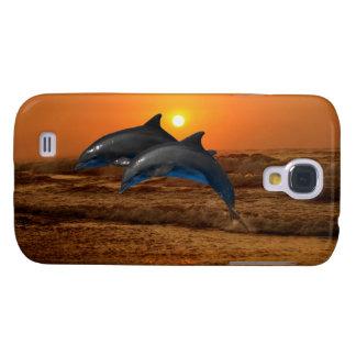 Coque Galaxy S4 Dauphin de Bottlenose au coucher du soleil