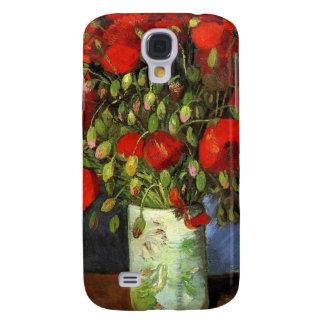 Coque Galaxy S4 Destin rouge de paix d'amour de ressort de fleurs