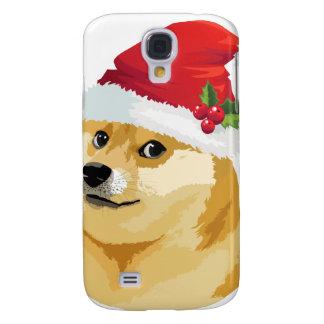 Coque Galaxy S4 Doge de Noël - doge de père Noël - chien de Noël