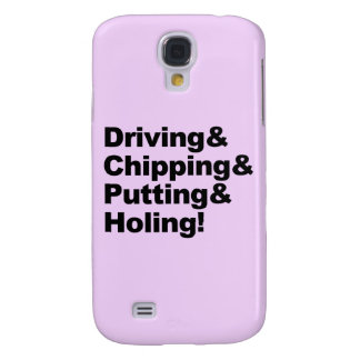 Coque Galaxy S4 Driving&Chipping&Putting&Holing (noir)