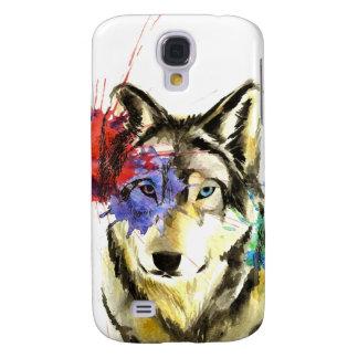 Coque Galaxy S4 Éclaboussure de loup