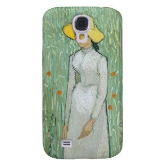 Coque Galaxy S4 Fille de Vincent van Gogh | dans le blanc, 1890