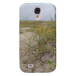 Coque Galaxy S4 Fleurs sauvages d'automne de plage