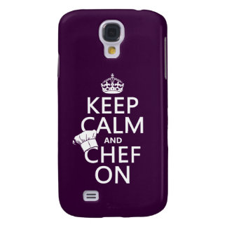 Coque Galaxy S4 Gardez le calme et le chef dessus