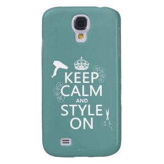 Coque Galaxy S4 Gardez le calme et le style sur (toute couleur