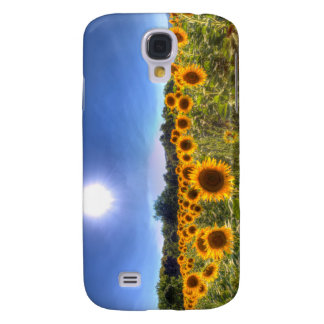 Coque Galaxy S4 Gisements de tournesol d'été