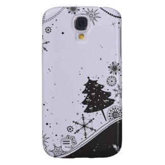 Coque Galaxy S4 Illustration de Noël de flocon de neige