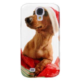 Coque Galaxy S4 Le teckel père Noël - le chien de père Noël -