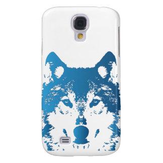 Coque Galaxy S4 Loup de bleu glacier d'illustration