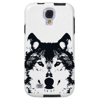Coque Galaxy S4 Loup noir d'illustration