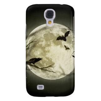 Coque Galaxy S4 Lune de Halloween - illustration de pleine lune