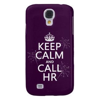 Coque Galaxy S4 Maintenez calme et l'appel heure (toute couleur)