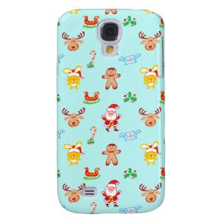 Coque Galaxy S4 Motif de Noël d'homme de Père Noël, de renne, de