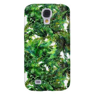 Coque Galaxy S4 Motif vert de chute de forêt de fougère