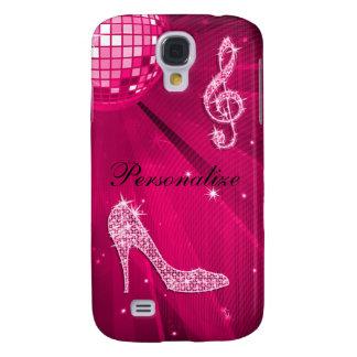Coque Galaxy S4 Note scintillante de musique de roses indien et