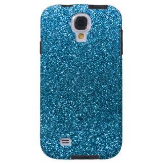 Coque Galaxy S4 Parties scintillantes de bleu de ciel