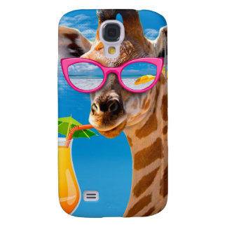 Coque Galaxy S4 Plage de girafe - girafe drôle