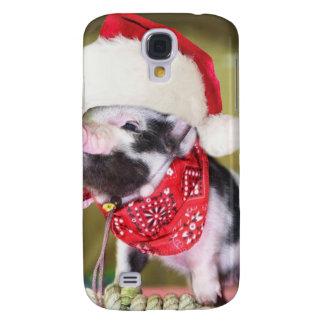 Coque Galaxy S4 Porc le père noël - porc de Noël - porcelet