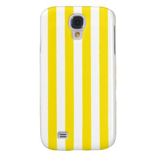 Coque Galaxy S4 Rayures jaunes verticales