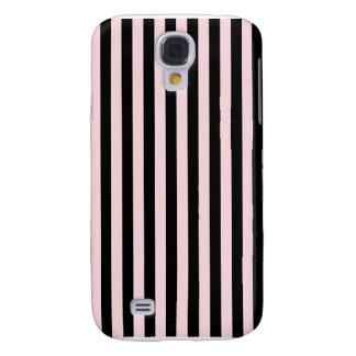 Coque Galaxy S4 Rayures minces - noires et pâles - rose
