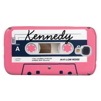 Coque Galaxy S4 Rétro enregistreur à cassettes rose