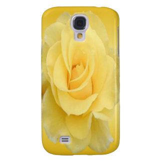 Coque Galaxy S4 Rose jaune sensible #4
