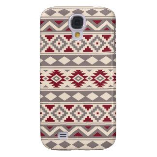 Coque Galaxy S4 Rouge crème de Taupe d'IIIb de motif aztèque