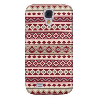 Coque Galaxy S4 Sable crème d'essence de motif de gris rouges