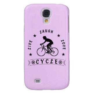 Coque Galaxy S4 Texte de Live Laugh Love Cycle de Madame (noir)