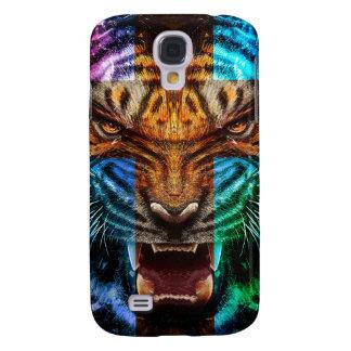 Coque Galaxy S4 Tigre croisé - tigre fâché - visage de tigre - le