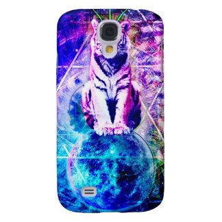 Coque Galaxy S4 Tigre de galaxie - tigre rose - 3d tigre - tigre