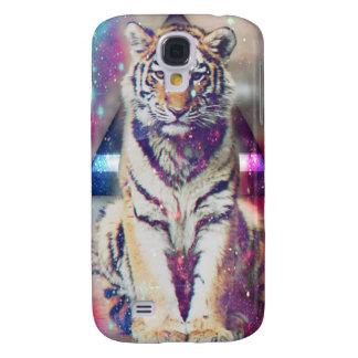 Coque Galaxy S4 Tigre de hippie - art de tigre - tigre de triangle